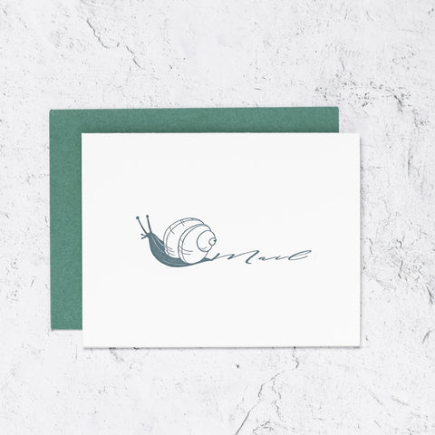 Snail Mail Letterpress Cards