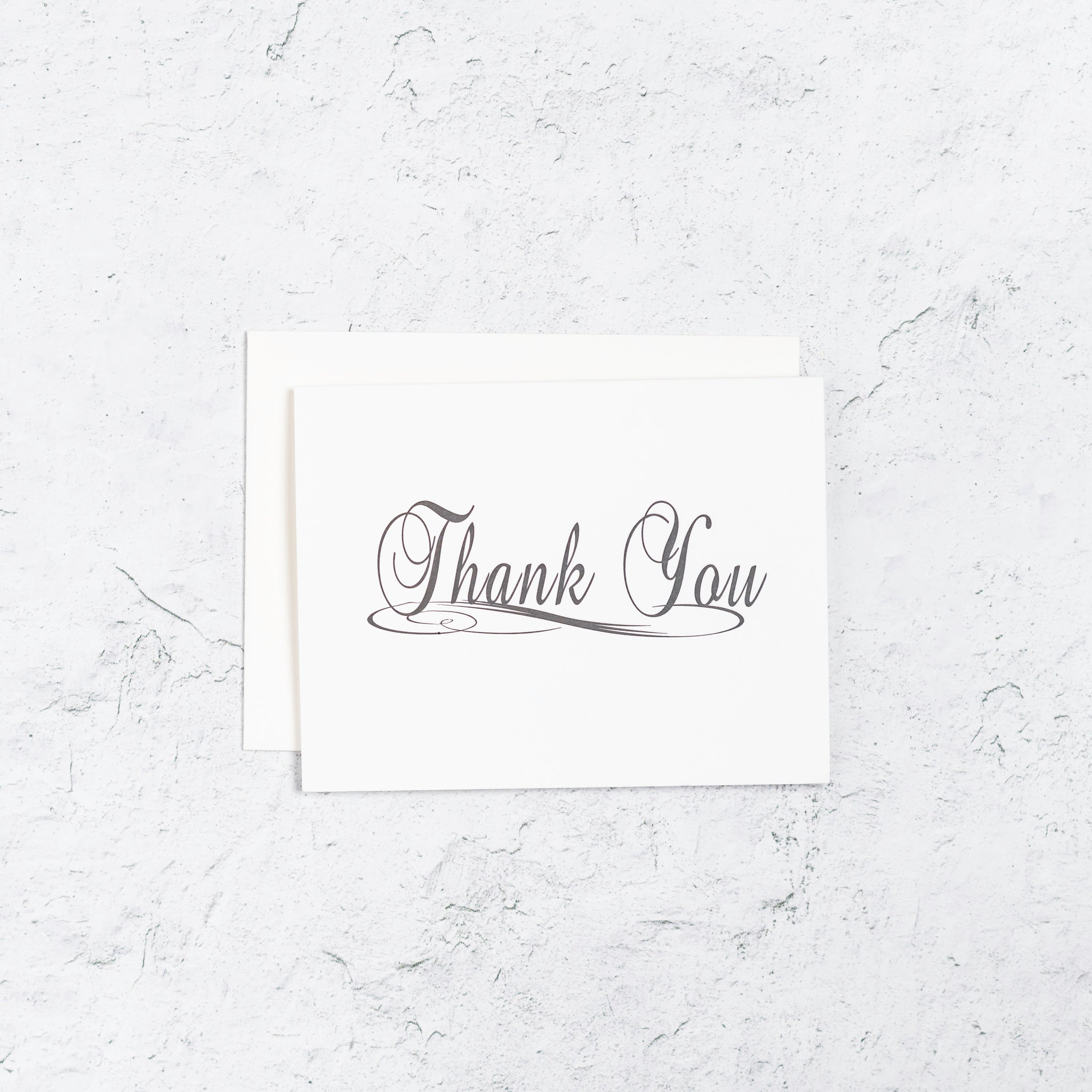 Traditional Thank You Letterpress Card