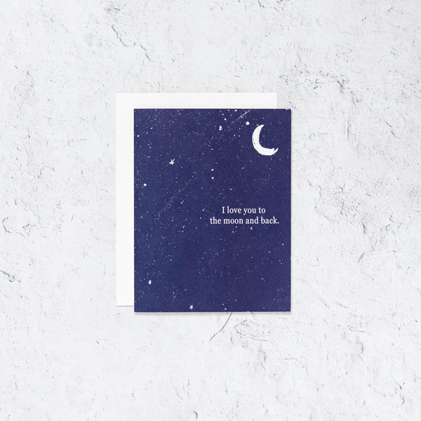 Love To the Moon and Back Letterpress Card  Edit alt text