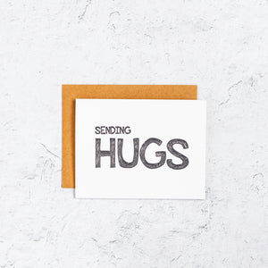 Sending Hugs Letterpress Card