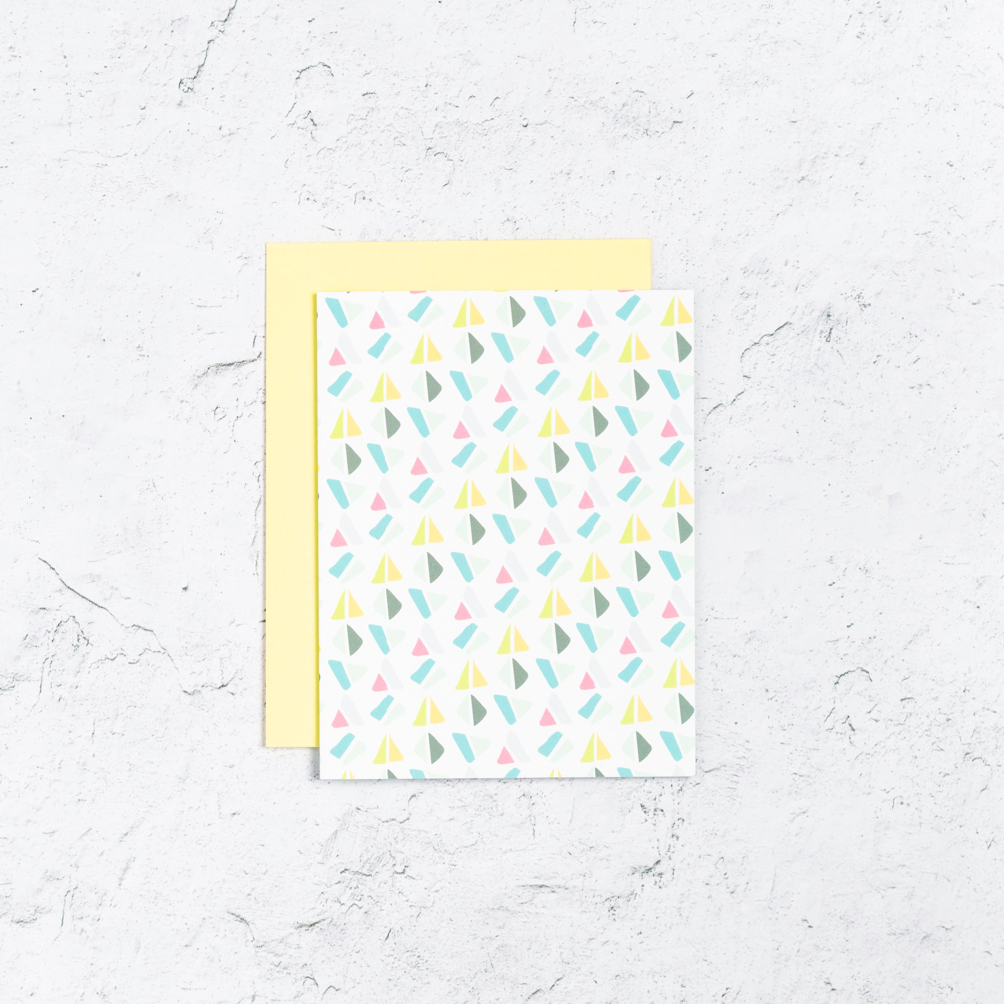 Triangle Geometric Note Cards