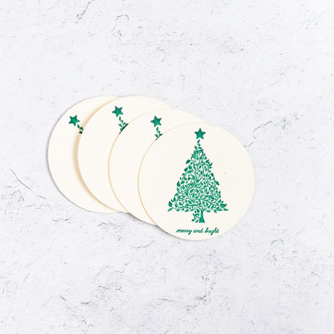 Merry and Bright Paper Coasters