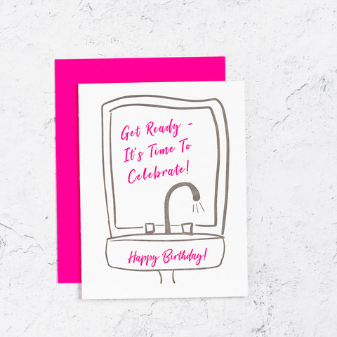 Celebrate Birthday Letterpress Card