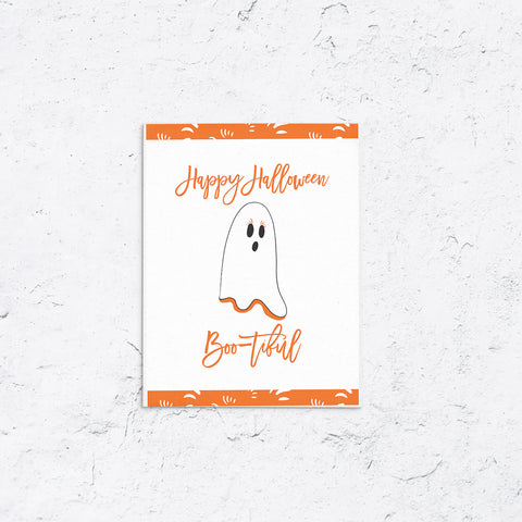 Boo-tiful Ghost Halloween Card
