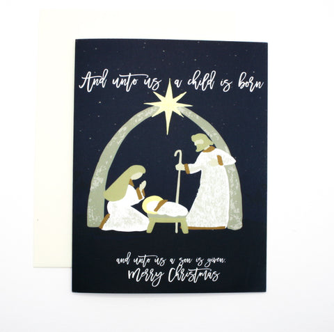 Nativity Holiday Greeting Card Christmas