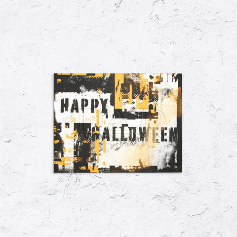 Happy Halloween Graffiti Card