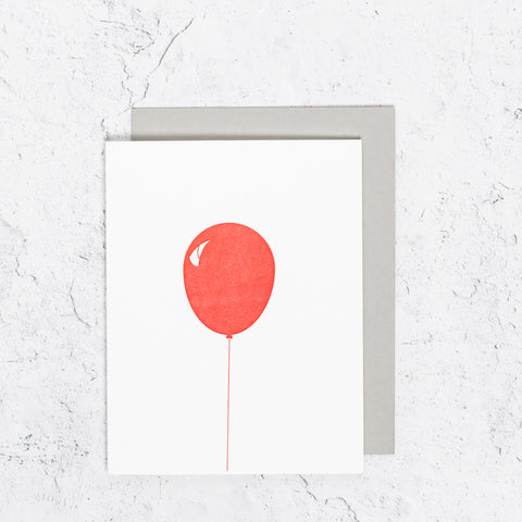 The IT Red Halloween Balloon Card
