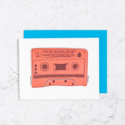 Mix Tape Happy Birthday Letterpress Card