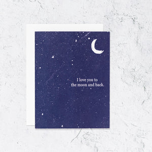 Love To the Moon and Back Letterpress Card Edit alt text  Edit alt text