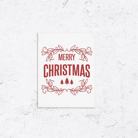 Merry Christmas Trees Holiday Cards