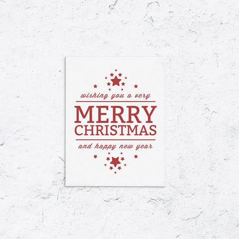 Happy Holidays With Stars Holiday Cards