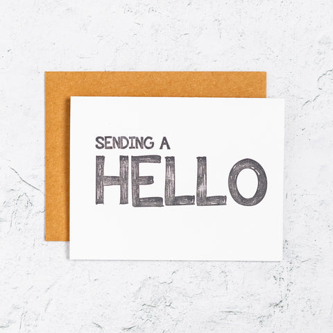 Sending A Hello Letterpress Card