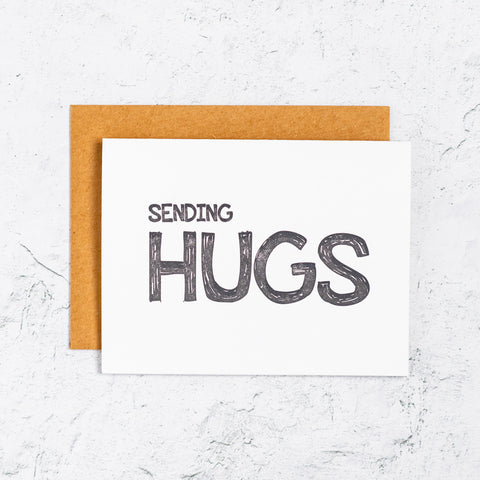 Sending Hugs Letterpress Cards