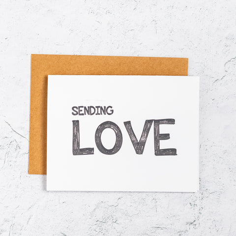 Sending Love Letterpress Cards
