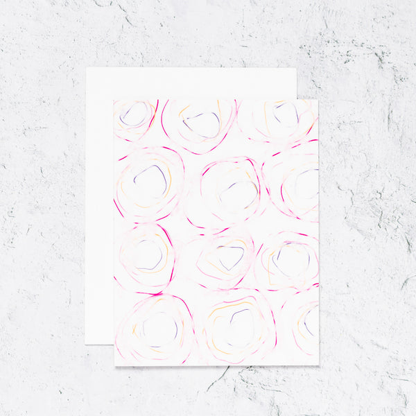 Abstract Watercolor Swirl Notecard Set