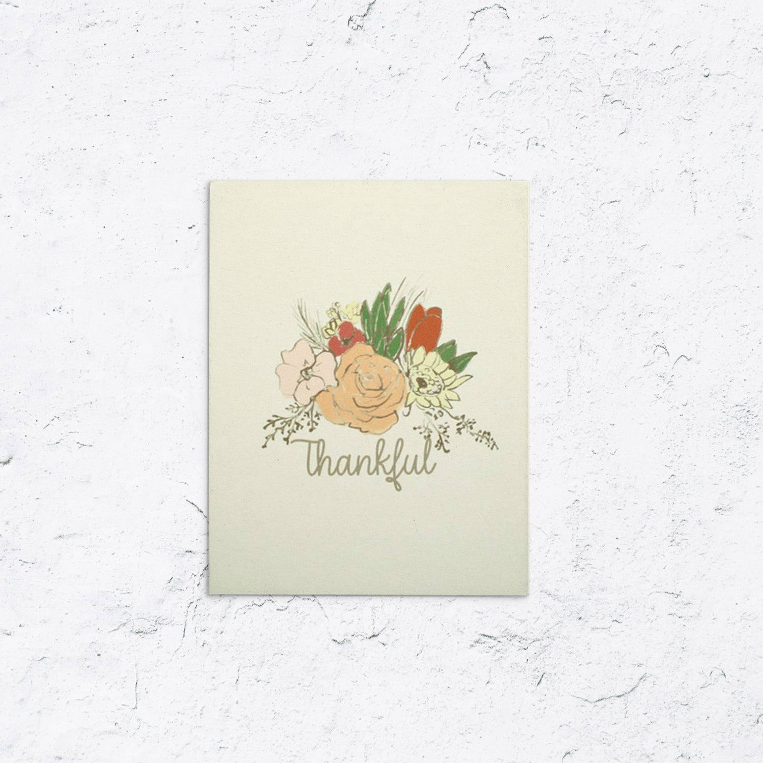 Autumn Wreath Thankful Greeting Card