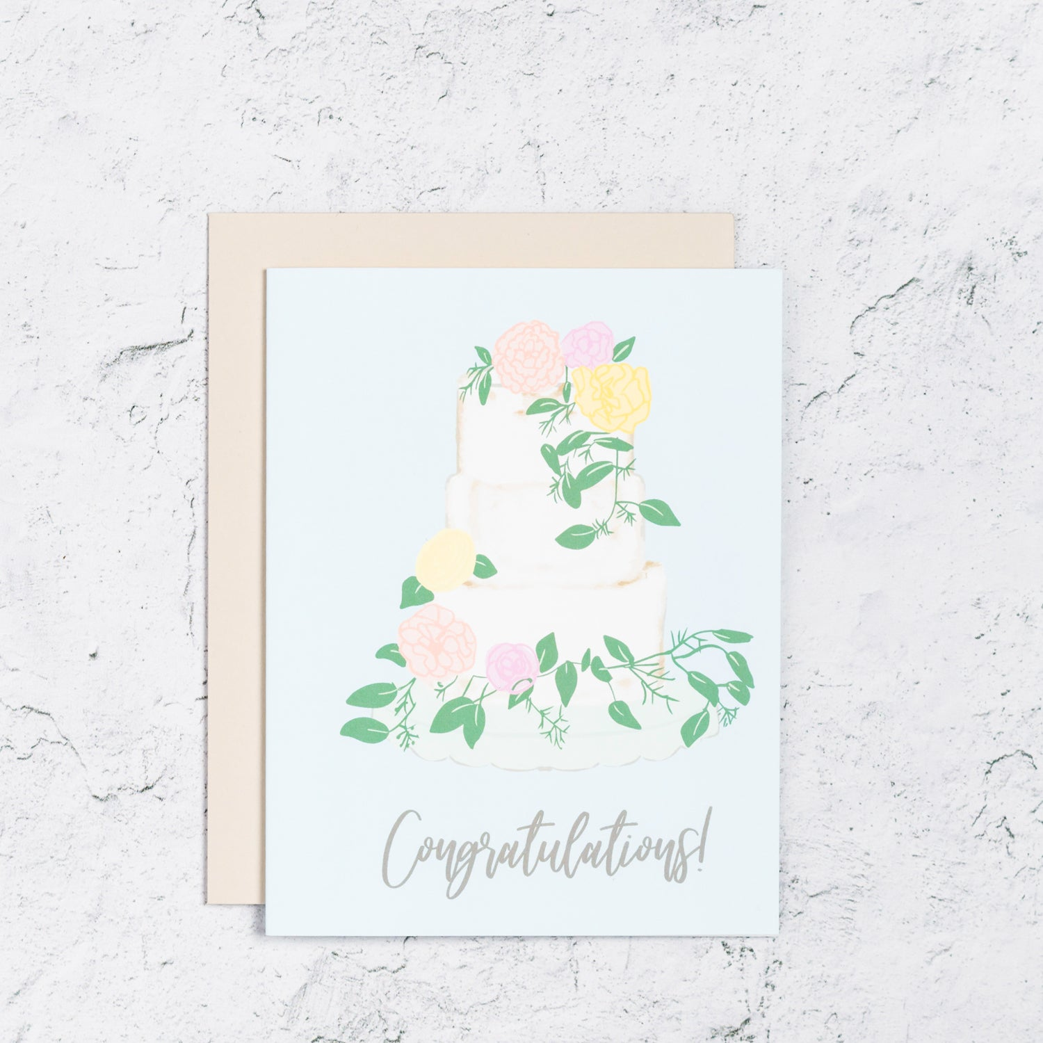 Congratulations Card With Wedding Cake