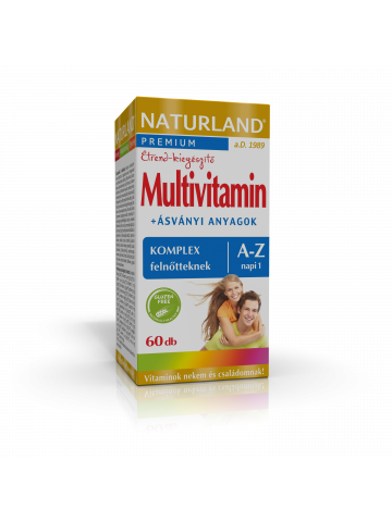 NATURLAND Multivitamin A-Z tabletta 60x