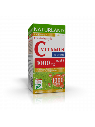 NATURLAND 1000 mg C-vitamin tabletta 40x