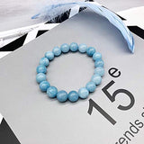 Soothing Bracelet - Natual Aquamarine bracelet - Bring Positive Energy - Peace - Youthfullness Bracelet - Stone Bracelet for Everlasting Joy