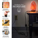 Himalayan Glow 1004 Hand Carved Natural Himalayan Salt lamp, 15-20 lbs, Orange/Amber,Orange / Amber