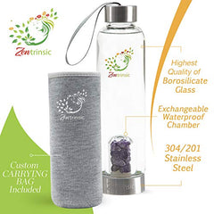 zentrinsic crystal infused water bottle includes 3 sets of