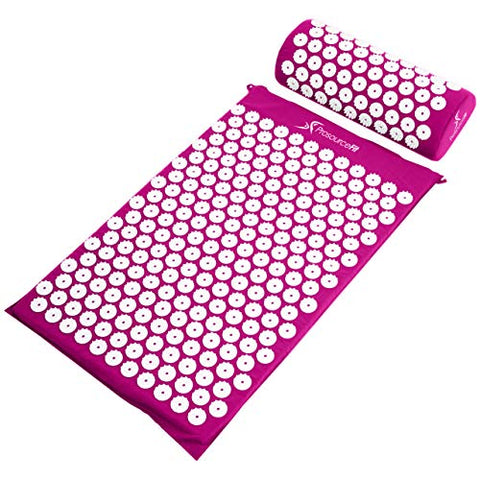 ProsourceFit Acupressure Mat and Pillow Set - Purple