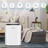 MOOKA True HEPA+ Smart Air Purifier, Room up to 540ft², 6-Point , Auto Mode,Eliminator for Allergies and Pets, UV Sterilizer & Ionizer, Air Cleaner for Office & Home, Rid of Mold, Smoke, Odor