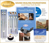 Ohm Therapeutics Sound Healing Foundations for Healthcare Professionals (2X 136.1 Hz + 1x 68.05 Hz Tuning Forks, Activators, Instructional Manual, Bonus Charts)