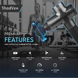 Shadven Massage Gun - Handheld Massaging Device, 20 Intensity Levels, Deep Tissue Back, Neck, Body, Foot Percussion Massager and Relaxer - Soothes Muscle Pain