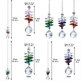 H&D HYALINE & DORA Crystal Ball Prism Rainbow Octogon Chakra Hanging Suncatcher Window Sun Catcher, Set of 3