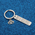 WUSUANED Buddhist Inspirational Quote Keychain What You Think You Become Buddha Jewelry Inspirational Gift (What You Think You Become)