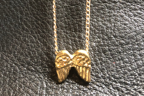 REIKI CHARGED! Angel Wings Protection & Wish Necklace