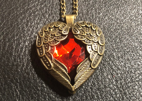 REIKI CHARGED! Beautiful Heart Angel Love - Protection Necklace