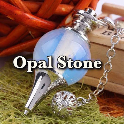 REIKI CHARGED! Beautiful Opal Gem Stone PENDULUM