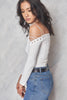 Pull Some Strings Off The Shoulder Top - White