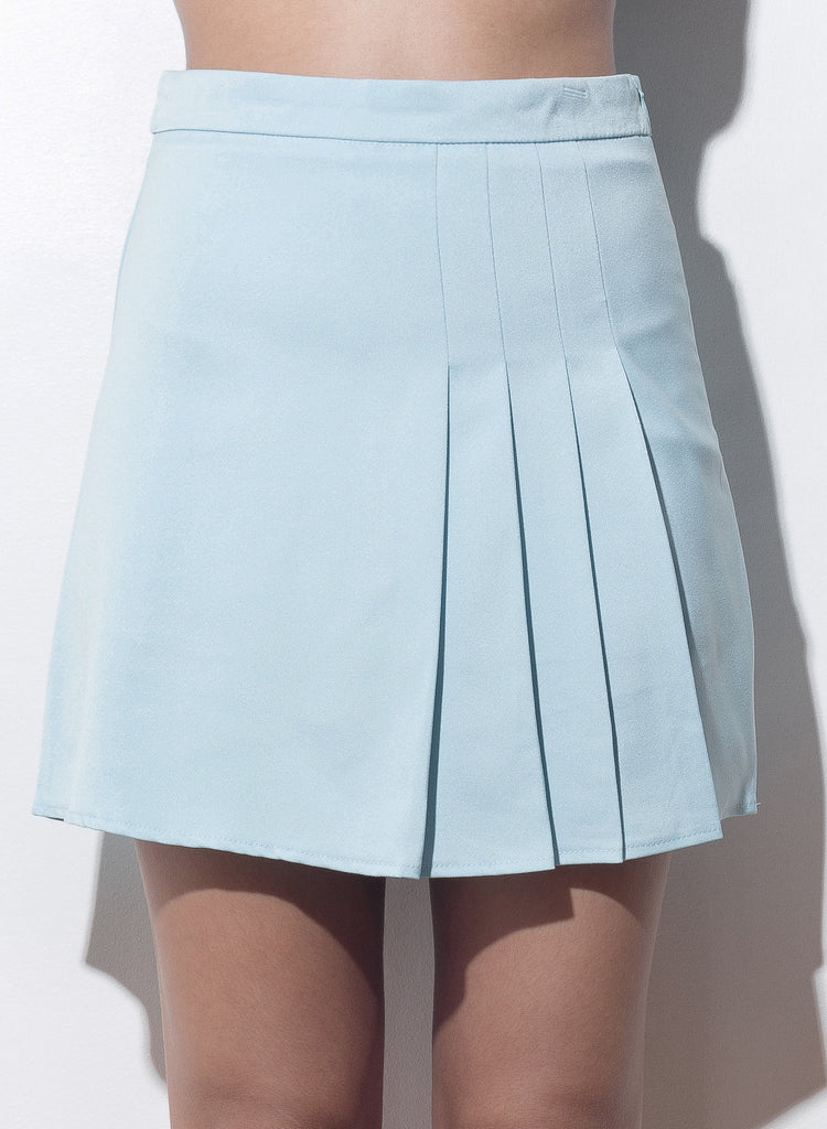 Show And Tell Pleated Skirt - Blue - COPPER | Street Style Fashion Brand  - 3