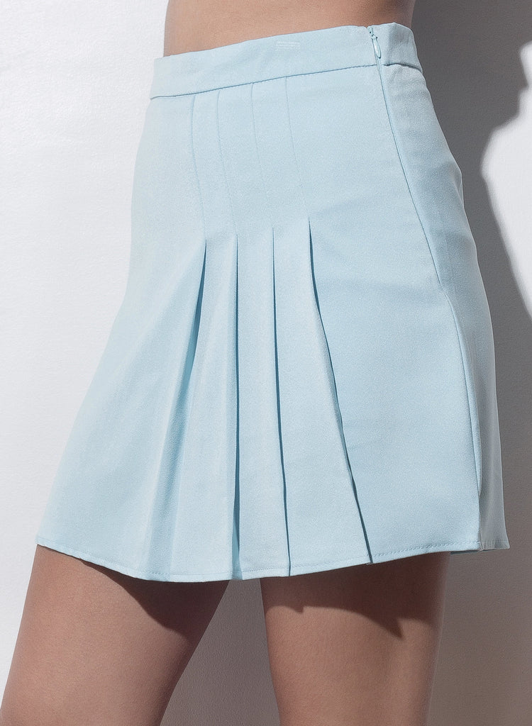 Show And Tell Pleated Skirt - Blue - COPPER | Street Style Fashion Brand  - 4