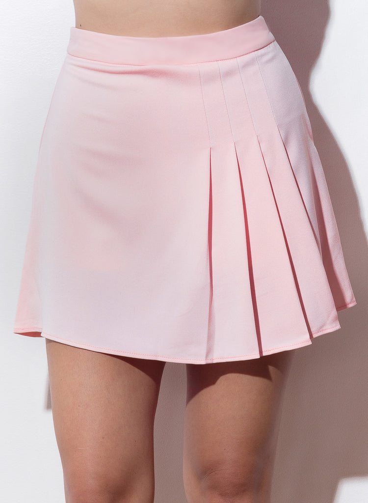 Show And Tell Pleated Skirt - Blush - COPPER | Street Style Fashion Brand  - 3