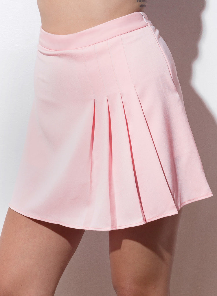 Show And Tell Pleated Skirt - Blush - COPPER | Street Style Fashion Brand  - 4