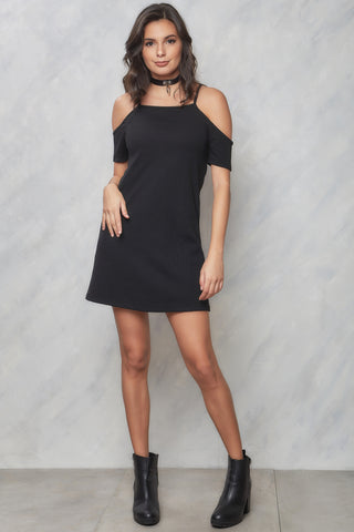 Venice Beach Open Back Dress - Black