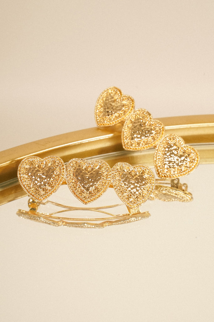 Change Of Heart Barrette - Gold