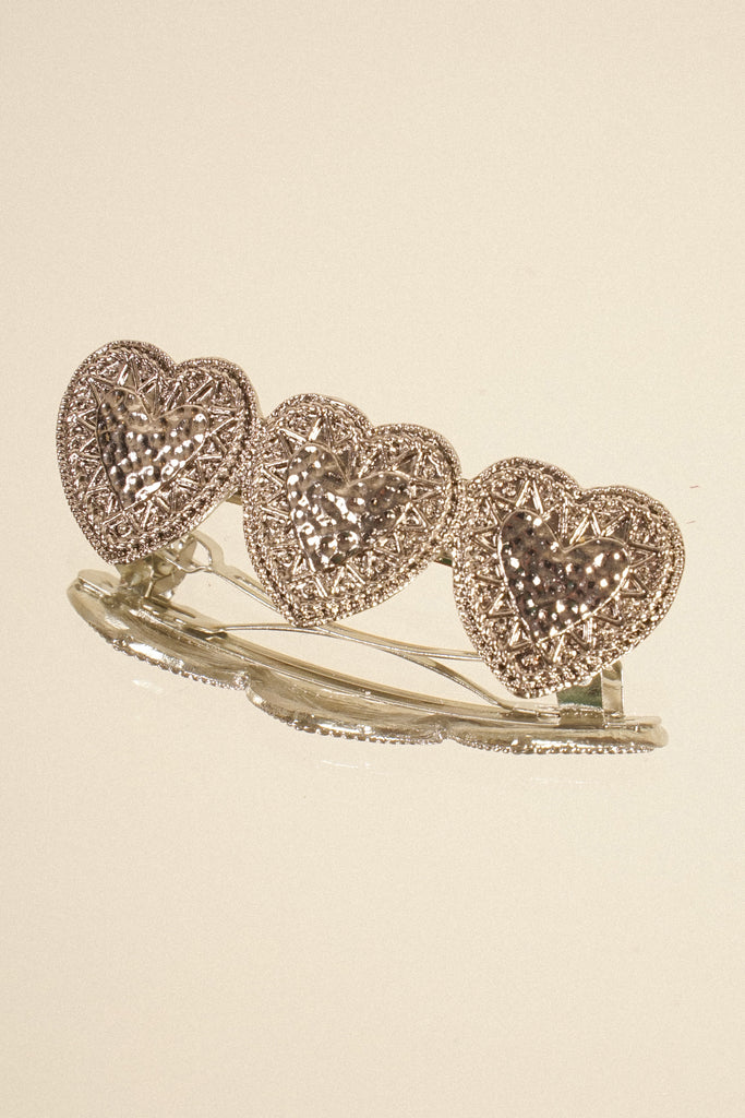Change Of Heart Barrette - Silver