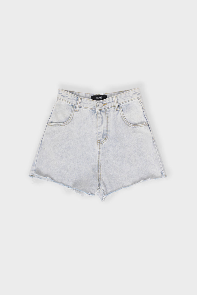 Bite The Bait Cutout Denim Cutoffs