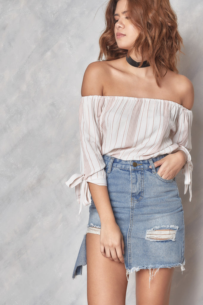 Better Days Off the Shoulder Top - Dusty Rose