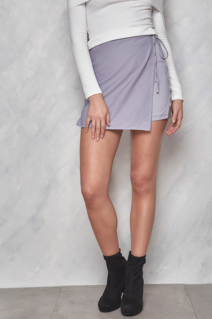 Fool For You Wrap Skirt - Lilac