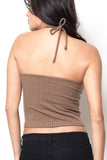 Wild Heart Halter Crop Top - Nude