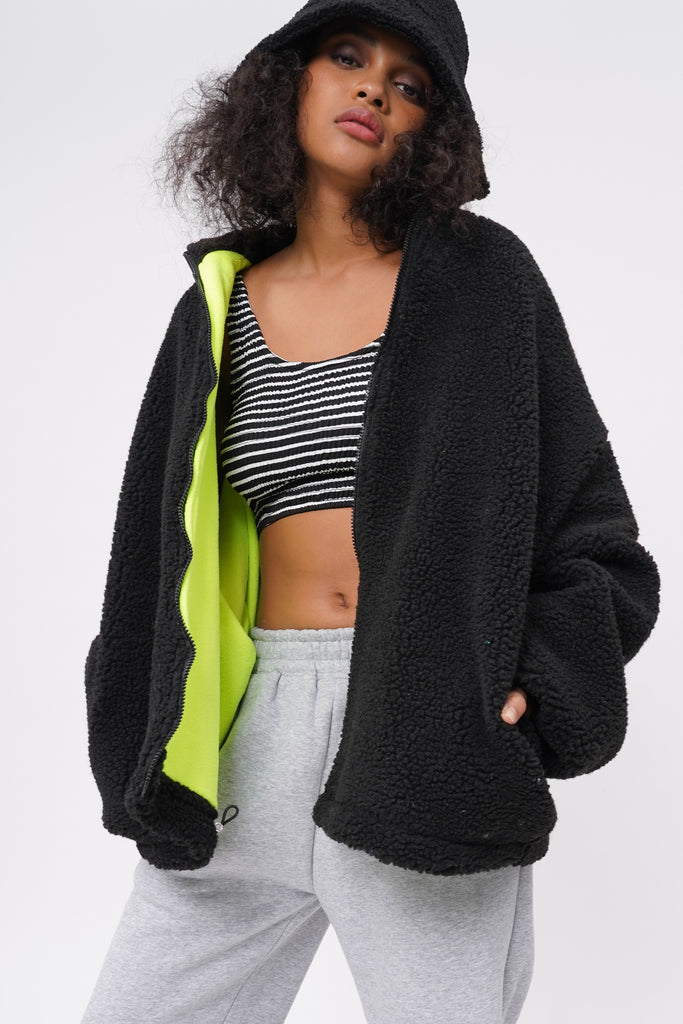 Cold Call Oversized Teddy Jacket