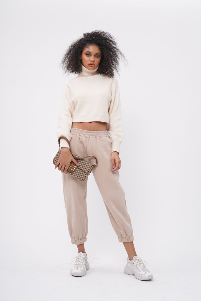 [PREORDER] Don't Sweat It Essential Jogger Pants - Nude