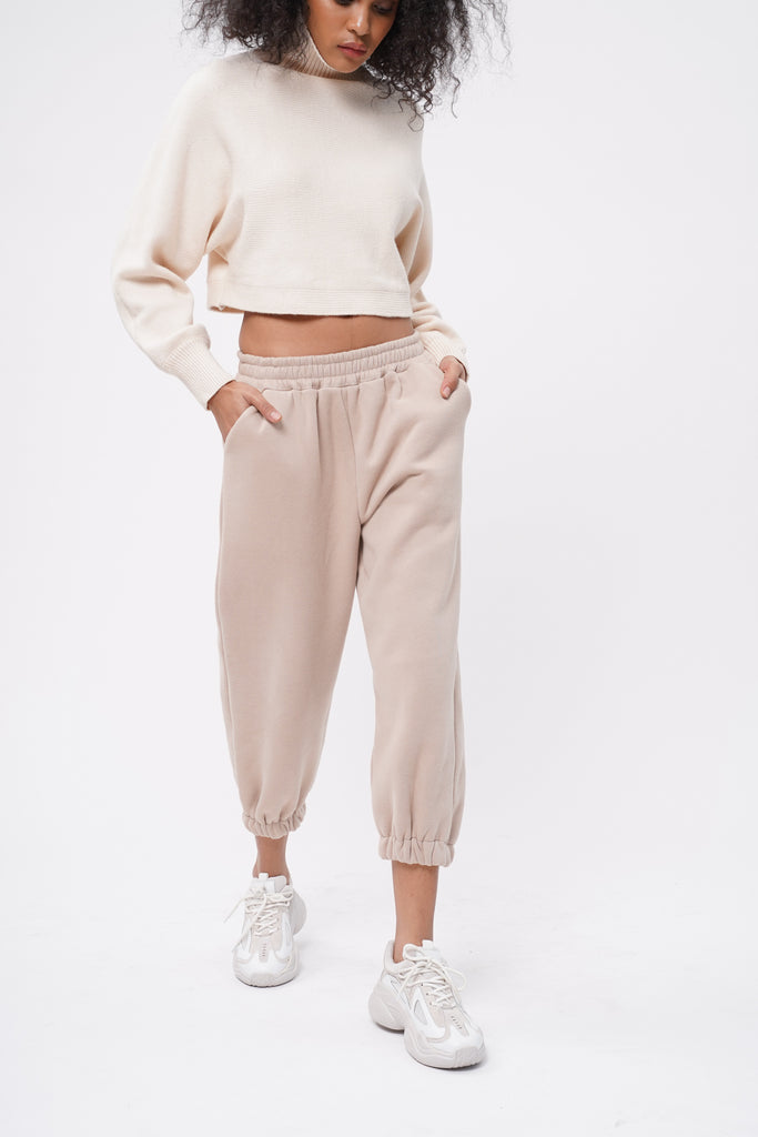 Don't Sweat It Essential Jogger Pants - Nude